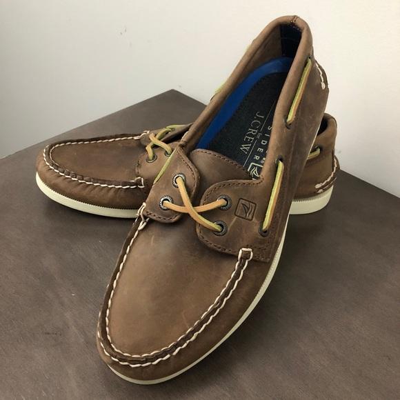 Jcrew 2eye Boat Shoes Brokenin   Poshmark